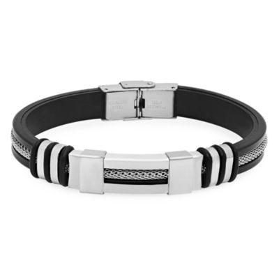 Steeltime Mens Stainless Steel Link Bracelet