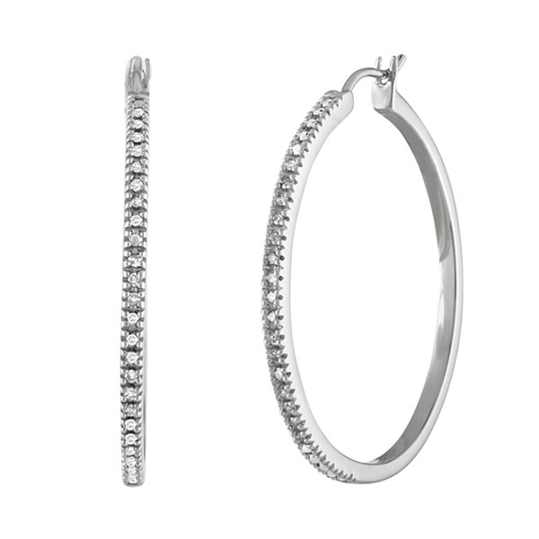 1/4 CT. T.W. Diamond Hoop Earrings