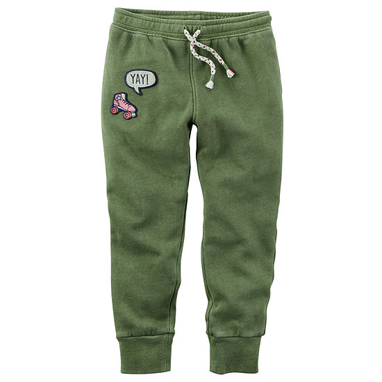 Carter's Girls Mid Rise Cinched Jogger Pant - Toddler