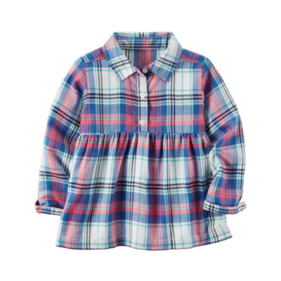 Carter's Long Sleeve Button-Front Shirt - Girls