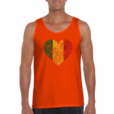 Los Angeles Pop Art One Love Heart Word Art Tank Top