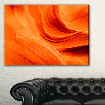 Designart Orange Upper Antelope Canyon Landscape Photography Canvas Print