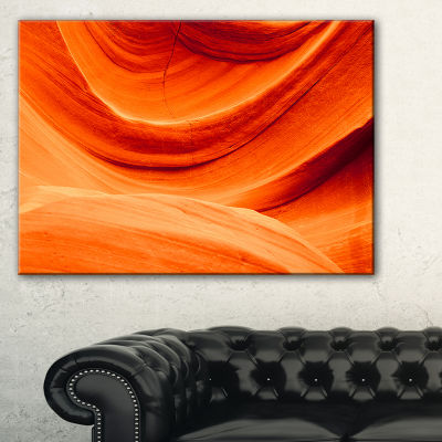 Designart Antelope Canyon Orange Wall Landscape Photography Canvas Print