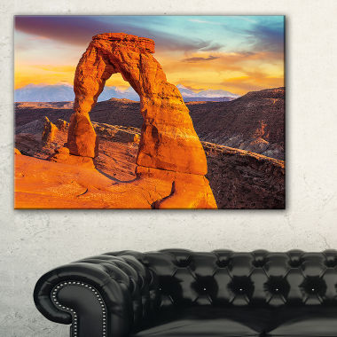 Designart Delicate Arch In Arches Park Landscape Photo Canvas Art Print