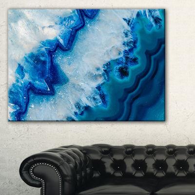 Designart Geode Slice Macro Abstract Canvas Art Print