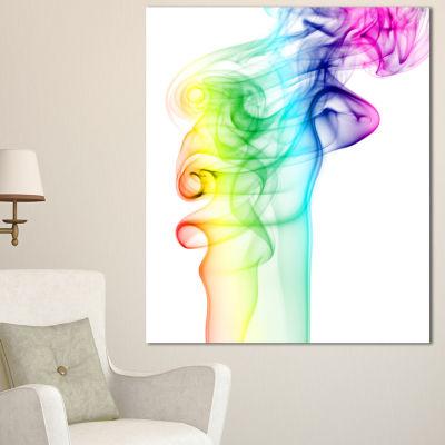 Designart Wave Light Art Abstract Canvas Art Print