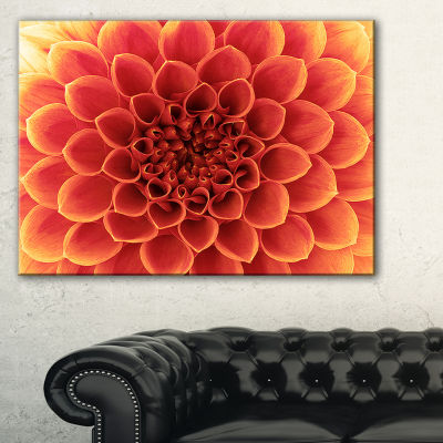 Designart Brown Flower With Dense Petals Photo Canvas Print