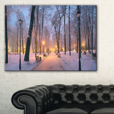 Designart Mariinsky Garden In Winter Landscape Photo Canvas Art Print