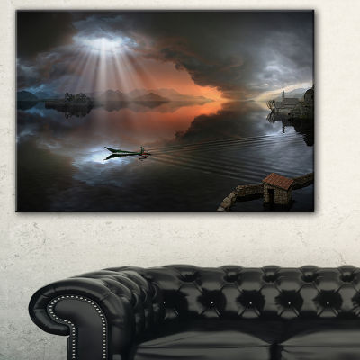 Designart High Water Photo Collage Seascape CanvasArt Print