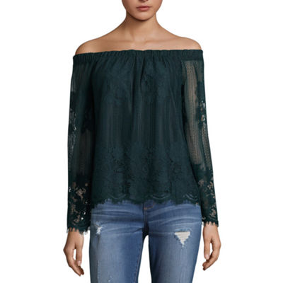 Arizona Lace Off Shoulder Top- Juniors