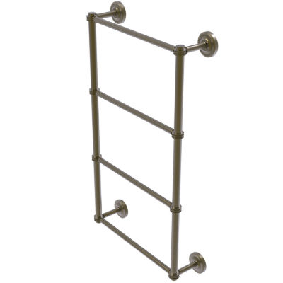 Allied Brass Prestige Regal Collection 4 Tier 36 Inch Ladder Towel Bar with Dotted Detail