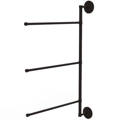 Allied Brass Prestige Que New Collection 3 Swing Arm Vertical 28 Inch Towel Bar