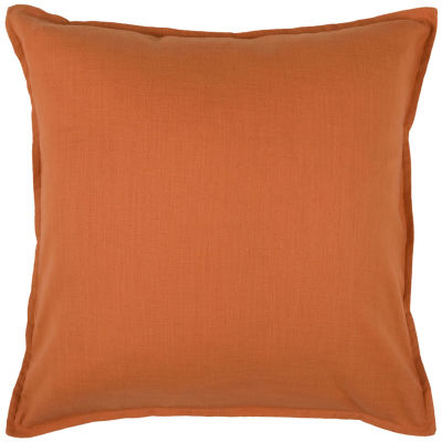 """Rizzy Home Solid Self Flanged Square Throw Pillow- 20"""" x 20"""""""