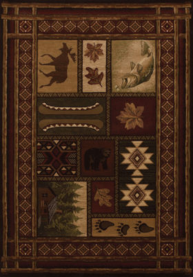 United Weavers Contours Collection Cabin Chalet Rectangular Rug