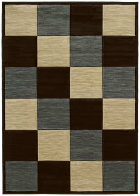 United Weavers Contours Collection Painted Diamond Rectangular Rug