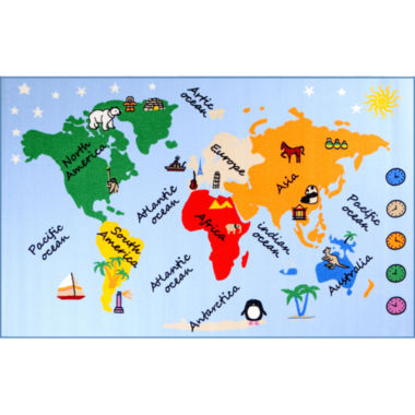 Concord Global Trading Fun Time Collection What AWorld Multi Area Rug