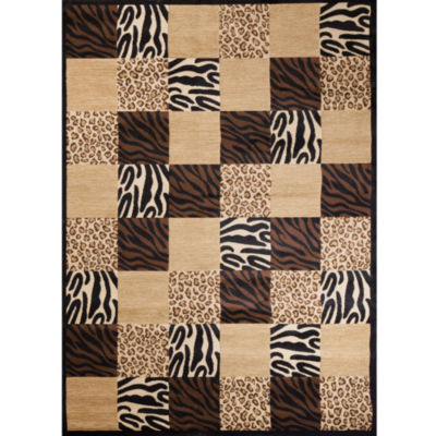 Concord Global Trading Soho Collection Animal Boxed Area Rug