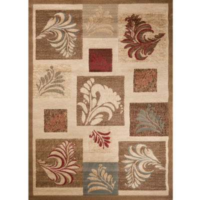 Concord Global Trading Soho Collection Leafs Area Rug