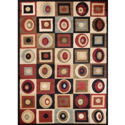 Concord Global Trading Soho Collection Round & Squares Area Rug