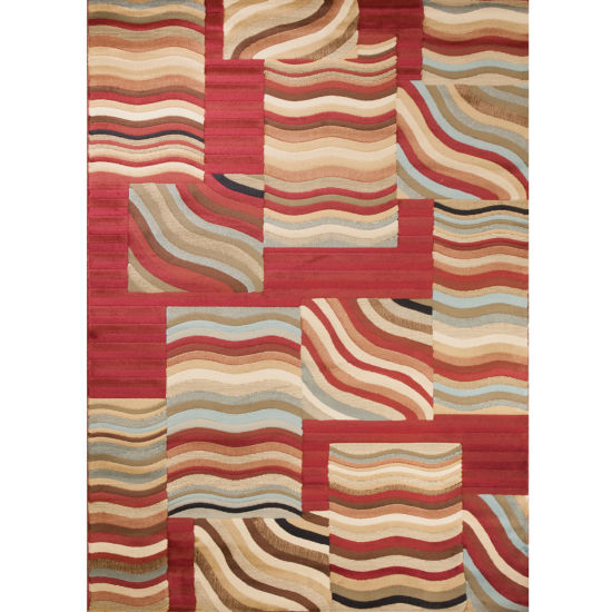 Concord Global Trading Soho Collection Waves Multi Area Rug