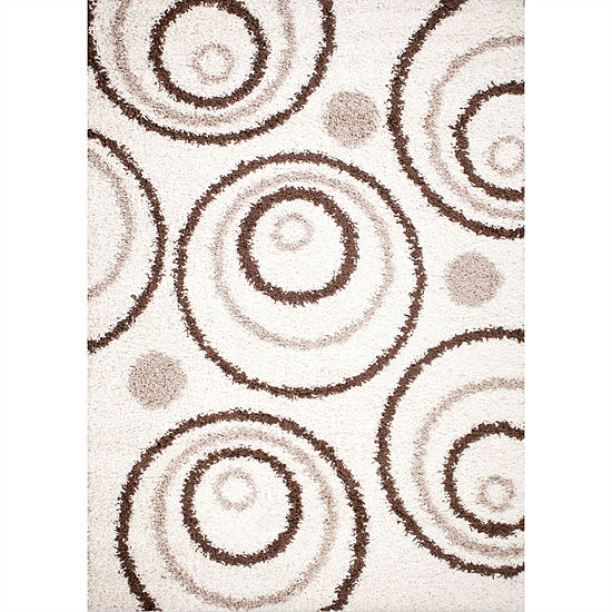 Concord Global Trading Shaggy Collection Circle Area Rug