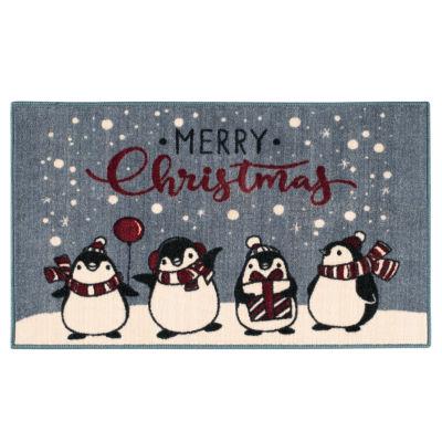 Brumlow Penguins Printed Rectangular Rugs