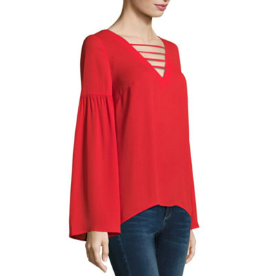 Belle + Sky Long Sleeve Neck Interest Top