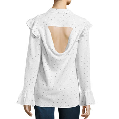T.D.C Long Sleeve Back Cut-out Top