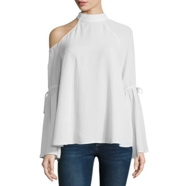T.D.C Long Sleeve Cold Shoulder Top