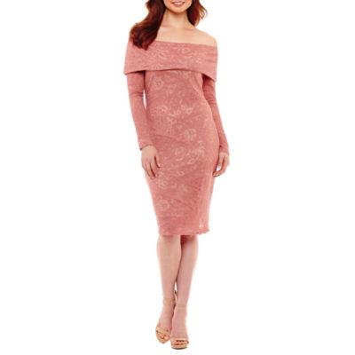 Bold Elements Burnout Off Shoulder Bodycon Dress
