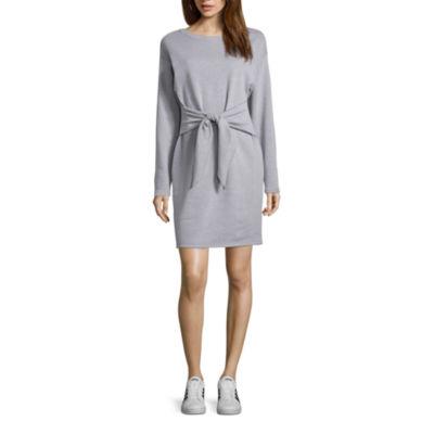 Project Runway Knot Waist Sweatshirt Dress