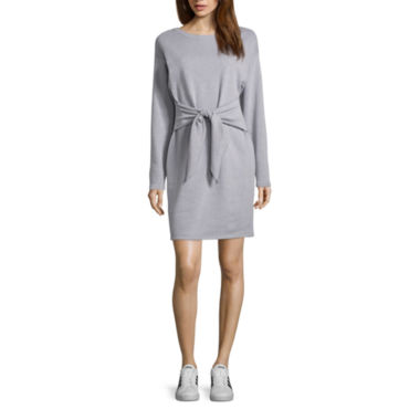 Project Runway Knot Waist Sweatshirt Dress