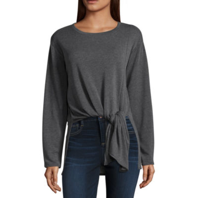 Project Runway Long Sleeve Tie Front Tunic Top