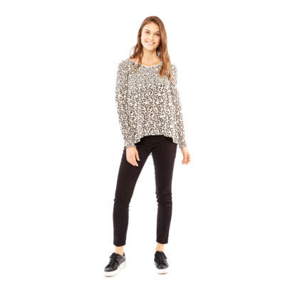 Skyes The Limit Oslo Long Sleeve Crew Neck Woven Blouse-Plus
