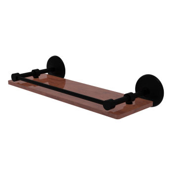 Allied Brass Monte Carlo Collection 16 IN Solid Ipe Ironwood Shelf With Gallery Rail