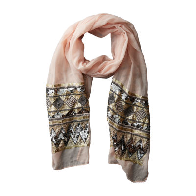 Tickled Pink Eleanor Skinny Pattern Scarf