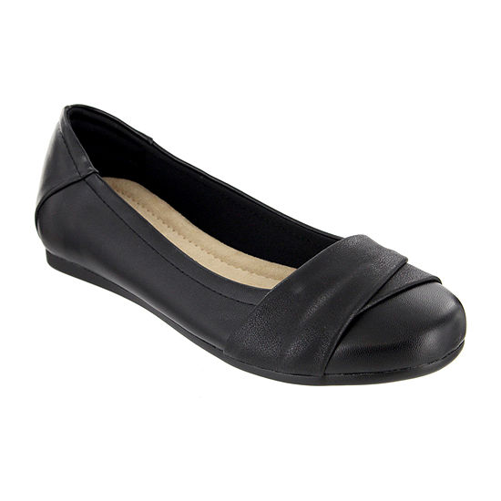 Mia Amore Womens Slip-on Round Toe Ballet Flats