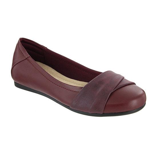 Mia Amore Womens Slip-on Round Toe Ballet Flats