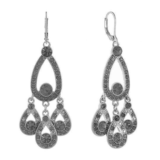 Monet Jewelry Gray Chandelier Earrings