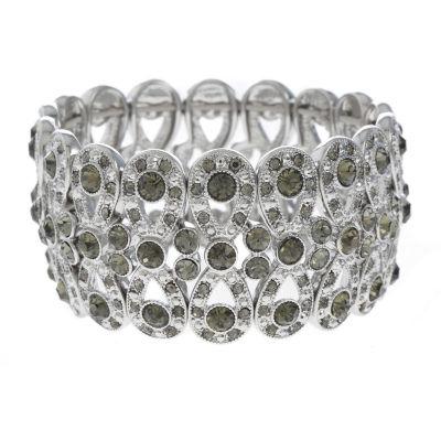 Monet Jewelry Womens Gray Stretch Bracelet