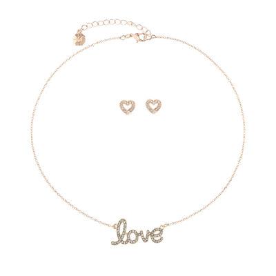 Monet Jewelry Love Rose Tone 2-pc. Jewelry Set
