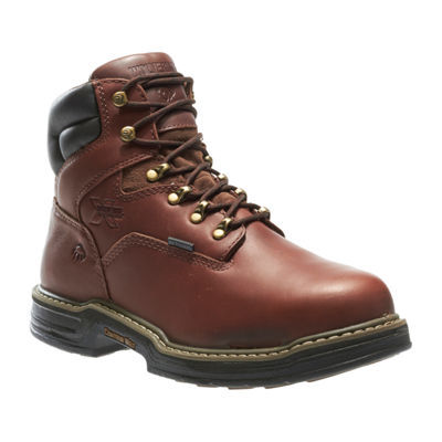 Wolverine Mens Darco Waterproof Slip Resistant Steel Toe Lace-up Work Boots