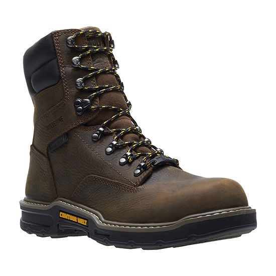 Wolverine Mens Bandit Waterproof Slip Resistant Composite Toe Lace-up Work Boots