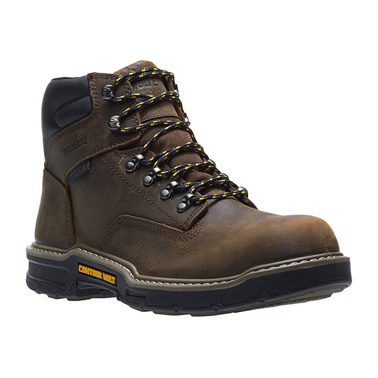 Wolverine Mens Bandit Waterproof Slip Resistant Lace-up Work Boots