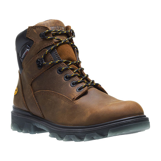 Wolverine Mens I-90 Waterproof Slip Resistant Lace-up Work Boots