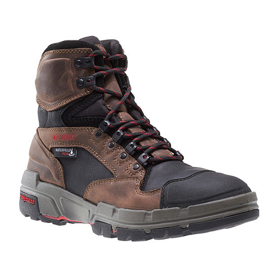 Wolverine Mens Durashocks Waterproof Slip Resistant Lace-up Work Boots