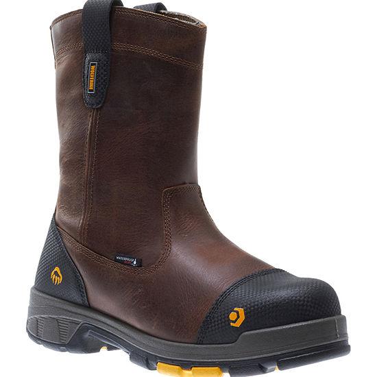 Wolverine Mens Blade Lx Waterproof Slip Resistant Composite Toe Pull On Work Boots