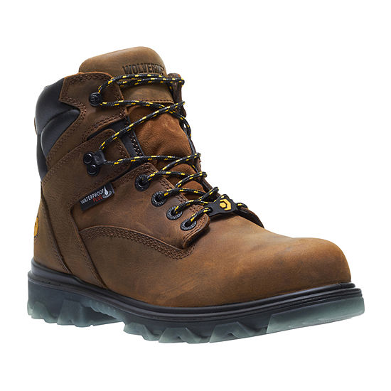 e6ada743741 Wolverine Mens I-90 Waterproof Slip Resistant Composite Toe Lace-up Work  Boots