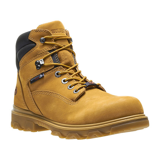 Wolverine Mens I 90 Waterproof Slip Resistant Composite Toe Lace up Work Boots