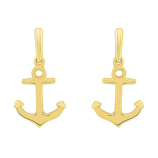 10K Gold 19.1mm Stud Earrings